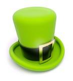 Saint patrick's green top hat. 3d illustration on white background Stock Image