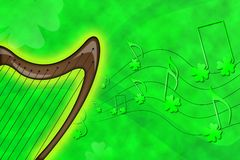 Saint Patrick's harp Stock Images