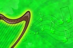 Saint Patrick's harp royalty free illustration