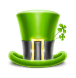 Saint patrick's hat with clover Royalty Free Stock Image