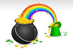 Saint Patrick's hat and pot Stock Photo