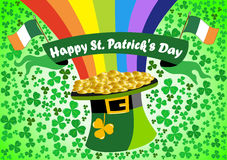 Saint Patrick s Leprechaun hat Background Royalty Free Stock Image
