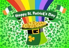 Saint Patrick s Leprechaun hat Background vector illustration