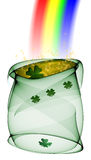 Saint Patrick's Pot. Computer generated illustration for St. Patrick's Day stock illustration