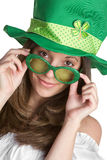 Saint Patrick's Woman Stock Photography
