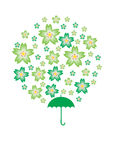 Saint Patrick Sakura. Illustration of Saint Patrick Sakura Royalty Free Stock Photo