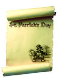 Saint Patrick Scroll Royalty Free Stock Photos
