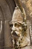Saint Patrick Stone Carving stock photo