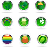 Saint Patricks buttons Stock Photo