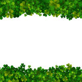Saint Patricks Day background, realistic shamrock leaves Royalty Free Stock Images