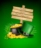 Saint Patricks Day background Stock Image