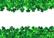 Saint Patricks day background with sprayed green clover leaves o. Saint Patricks day background with sprayed clover leaves or shamrocks Stock Images