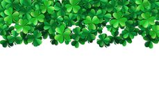 Saint Patricks day background with sprayed green clover leaves or shamrocks. Saint Patricks day background with sprayed clover leaves or shamrocks Royalty Free Stock Photo