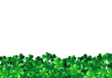 Saint Patricks day background with sprayed green clover leaves or shamrocks. Saint Patricks day background with sprayed clover leaves or shamrocks royalty free illustration