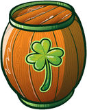 Saint Patricks Day Beer Barrel royalty free stock photos