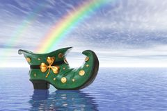 Saint Patricks Day Boot Stock Photo