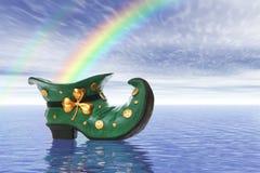 Saint Patricks Day Boot Stock Photo