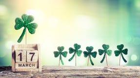 Saint Patricks Day - Calendar royalty free stock photography