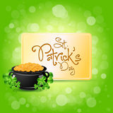 Saint Patricks Day Card Design royalty free illustration