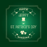 Saint Patricks day card Royalty Free Stock Photos