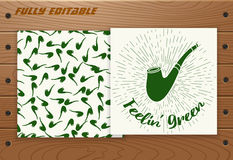 Saint Patricks Day card on wooden table. Stock Image