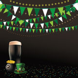 Saint Patricks Day dark beer party background Royalty Free Stock Images