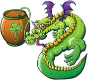 Saint Patricks Day Drunk Dragon Stock Images