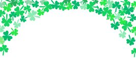 Saint Patricks Day Falling Shamrocks Vector Background. Eps 10 Stock Photo