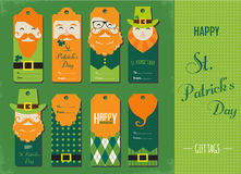 Saint Patricks day gift tags Royalty Free Stock Image