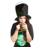 Saint patricks day girl Stock Photos