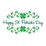 Saint Patricks Day graphic with border pattern. Vector clipart royalty free illustration