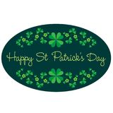 Saint Patricks Day graphic oval frame with border pattern. Vector clipart Royalty Free Stock Photography