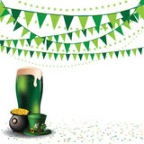 Saint Patricks Day green beer party background Royalty Free Stock Photos