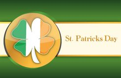 Saint patricks day green and gold background Stock Photo