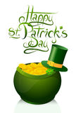 Saint Patricks Day greeting card design Royalty Free Stock Photo