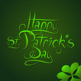 Saint Patricks Day greeting card design Stock Photo