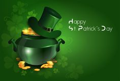 Saint Patricks Day Greeting Card Or Poster Traditional Irish Holiday Background Stock Photography