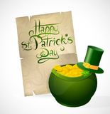 Saint Patricks Day greeting card. With traditional elements Royalty Free Stock Photos