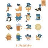 Saint Patricks Day  Icon Set Stock Photography