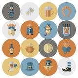 Saint Patricks Day Icon Set Royalty Free Stock Photos