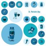 Saint Patricks Day Icon Set Stock Photos