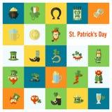 Saint Patricks Day Icon Set Royalty Free Stock Images