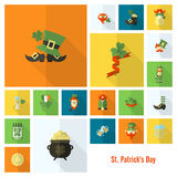 Saint Patricks Day Icon Set Stock Photo