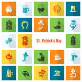 Saint Patricks Day Icon Set Royalty Free Stock Photos