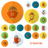 Saint Patricks Day Icon Set Royalty Free Stock Photography