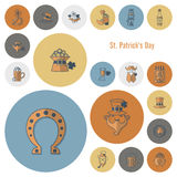 Saint Patricks Day Icon Set Stock Images