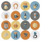 Saint Patricks Day Icon Set Royalty Free Stock Photo