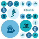 Saint Patricks Day Icon Set Royalty Free Stock Photography
