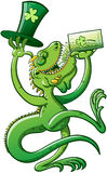 Saint Patricks Day Iguana Stock Photo