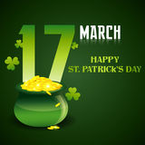 Saint patricks day illustration Stock Images
